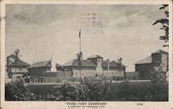 Third Fort Dearborn, A Century of Progress Postcard