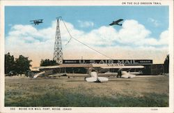 Boise Air Mail Port Postcard