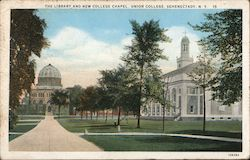 The Library and New College Chapel/Union College Postcard