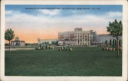Entrance to New Penitentiary Near Joliet Postcard
