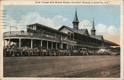 Club House and Grand Stand, Churchill Downs Postcard