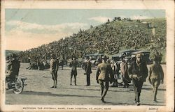 Watching the Football Game, Camp Funston Postcard