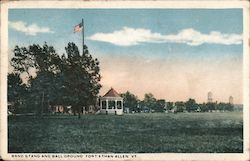 Band Stand and Ball Ground, Fort Fort Ethan Allen