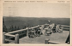Observation Deck, Cannon Mt. Aerial Tramway Postcard