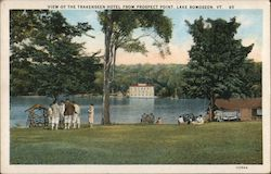 View of the Trakenseen Hotel from Prospect Point Postcard
