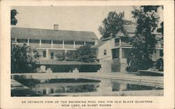An Intimate View of the Swimming Pool and the Old Slave Quarters, Farmington Country Club Postcard