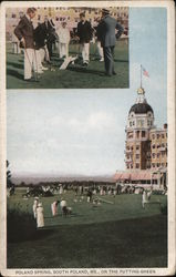 Poland Springs, On the Putting Green Postcard