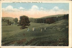 Golf Links, Country Club Postcard
