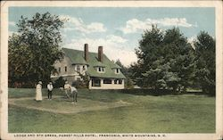 Lodge and 6th Green, Forest Hills Hotel Postcard