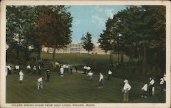 Poland Springs House From Golf Links Postcard