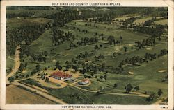 Golf Links and Country Club from Airplane Postcard