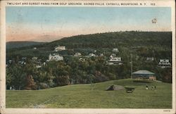 Twilight and Sunset Parks from Golf Grounds, Castskill Mountains