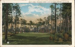 Golf Links at the Princess Anne Country Club Postcard