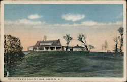 Golf Links and Country Club Postcard