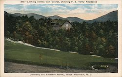 Looking Across Golf Course, Showing F.S. Terry Residence (formerly the Emerson Home)