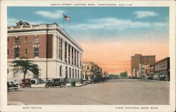 Broad Street Looking West - Post Office - First National Bank Building