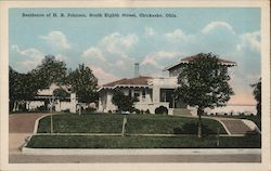 Residence of H.B. Johnson, South Eighth Street Postcard