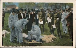 First Aid Team Contest, US Officials in Attendance