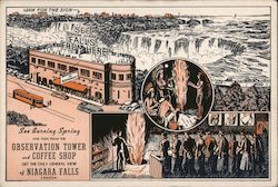 Niagara Falls Observation Tower and Coffee Shop Postcard
