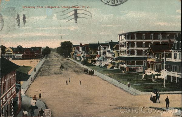 Broadway from Lillagore's Ocean Grove New Jersey