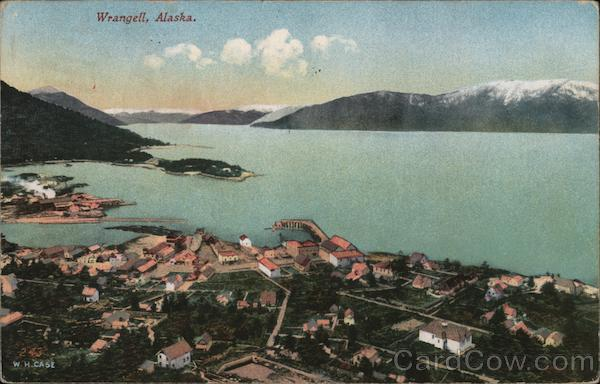 Aerial View of Wrangell Alaska