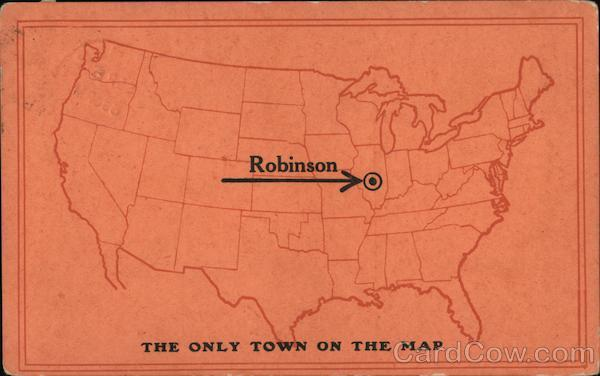 Map of US Showing Robinson Illinois