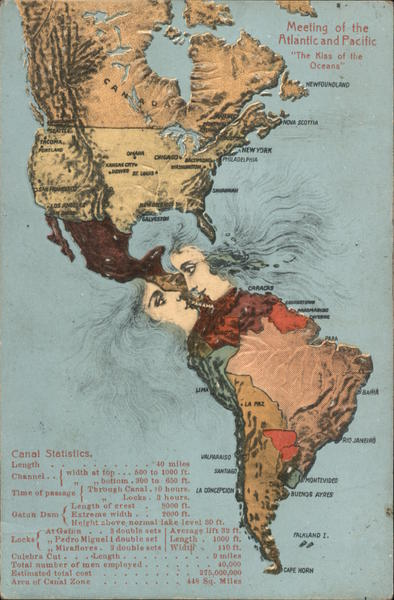 The Kiss of the Oceans Panama Maps