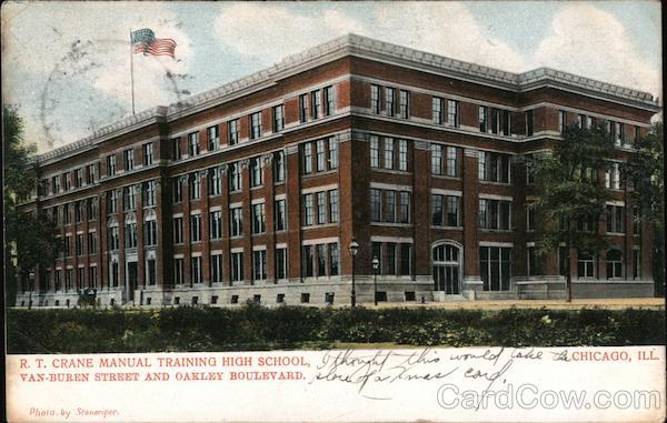 R.T. Crane Manual Training High School, Van-Buren Street and Oakley Boulevard Chicago Illinois