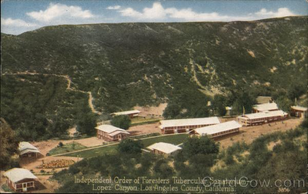 Independent Order of Foresters Tubercular Sanatorium, Lopez Canyon Sylmar California