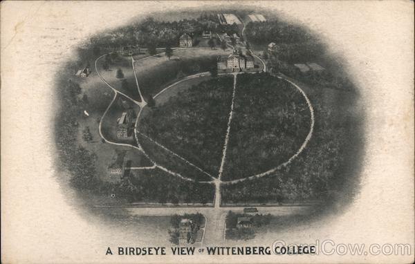 A Birdseye View of Wittenberg College Springfield Ohio