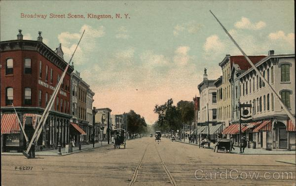 Broadway Street Scene Kingston New York