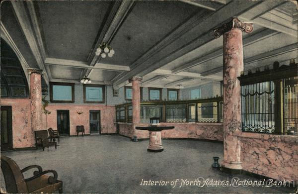 Interior of North Adams National Bank Massachusetts