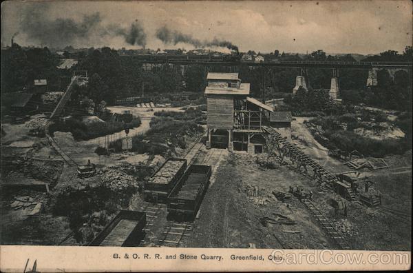 B. & O. R. R. and Stony Quarry Greenfield Ohio