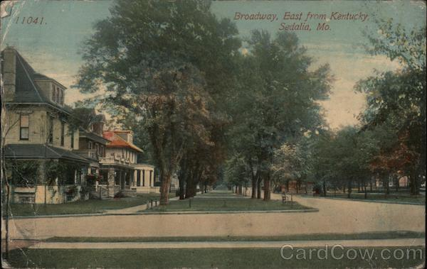 Broadway, East from Kentucky Sedalia Missouri