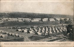 National Army Company Barracks and S.C. National Guardsmen's Tents at Camp Jackson
