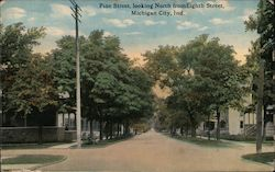 Pine Street, Looking North from Eighth Street Postcard