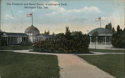 The Peristyle and Band Stand, Washington Park Postcard