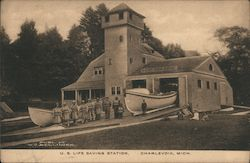 U.S. Life Saving Station Postcard