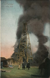Oil Well Burning after Being Shot