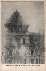 The Ruins of the N.W. Tower of N.Y. State Capitol Fire March 29, 1911
