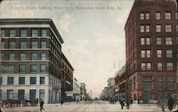 Fourth Street, Looking West Postcard