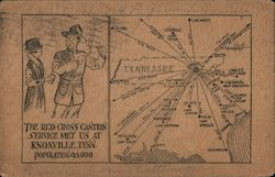The Red Cross Canteen Service - Map Showing Knoxville