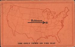 Map of US Showing Robinson