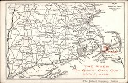 Map of the Massachusetts Area, Showing The Pines