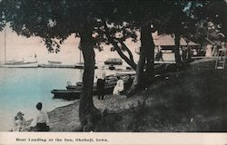 Boat Landing at the Inn, Lake Okoboji