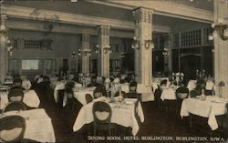 Dining Room, Hotel Burlington Postcard