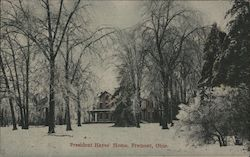 Presiden Hayes' Home Postcard