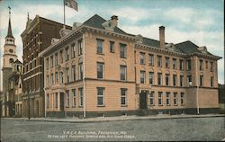 Y.M.C.A. Building, to the Left Masonic Temple and Old Town Clock