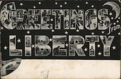 Greetings From Liberty Postcard