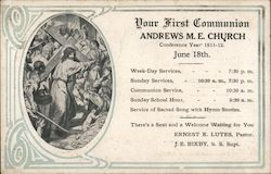 Your First Communion, Andrews M.E. Church